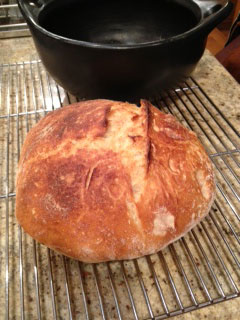 Homemade Bread in Clay Pot