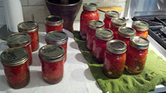 Preserving the Summer - Trying to hold on to that great tomato taste by canning summer tomatoes to use throughout the winter